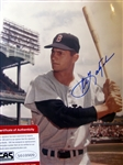"CARL YASTZEMSKI SIGNED 8"" x 10"" PHOTO w/CAS COA"