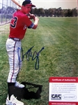 "CHIPPER JONES SIGNED 8"" x 10"" PHOTO w/CAS COA"