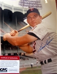 "HARMON KILLEBREW SIGNED 8"" x 10"" PHOTO w/CAS COA"