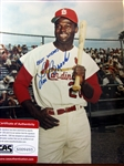 "LOU BROCK SIGNED 8"" x 10"" PHOTO w/CAS COA"