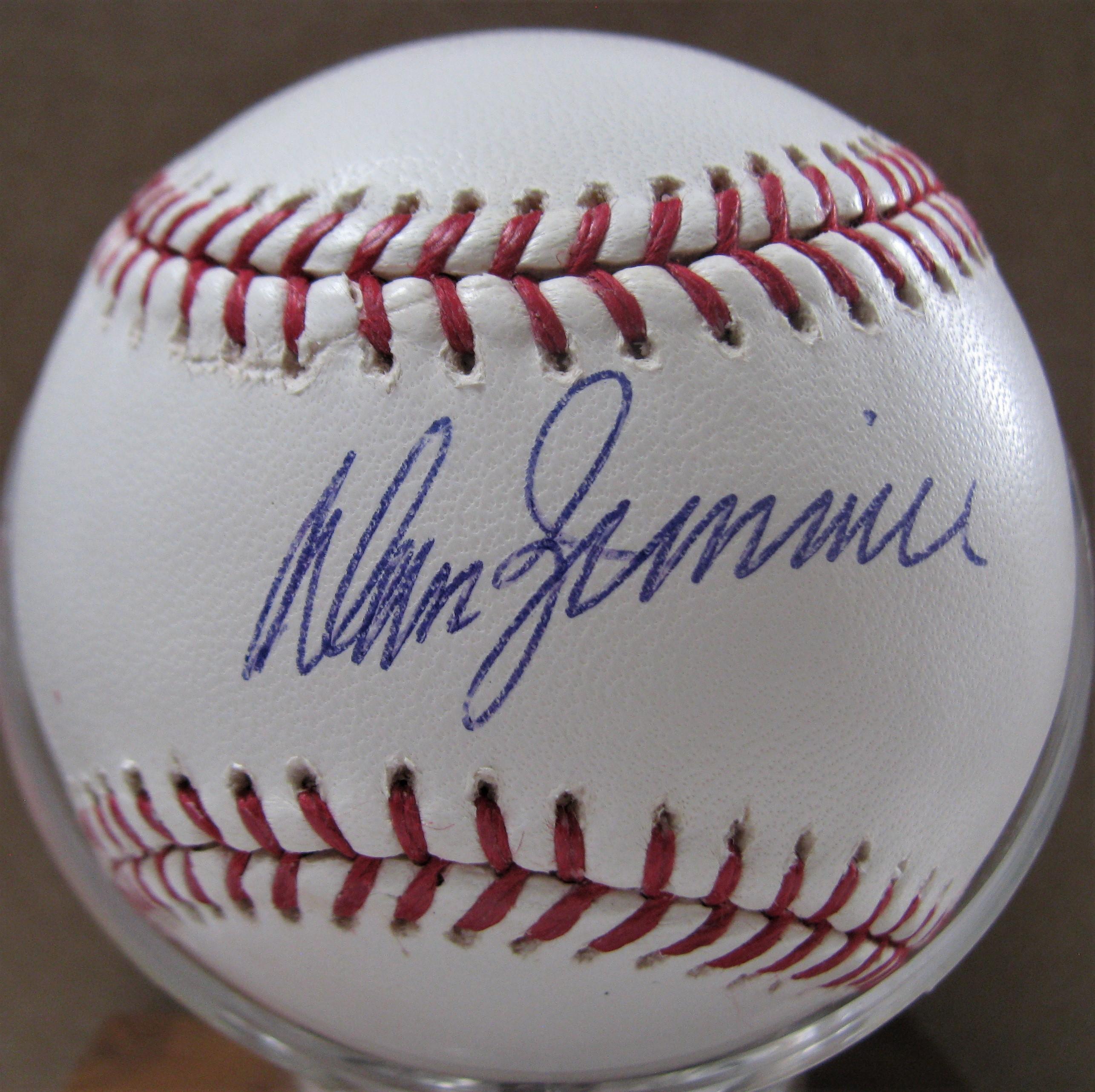 Don Zimmer Autographed Baseball Autographs-original