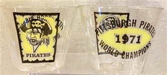 "1971 PITTSBURGH PIRATES ""WORLD CHAMPIONS"" CUPS"