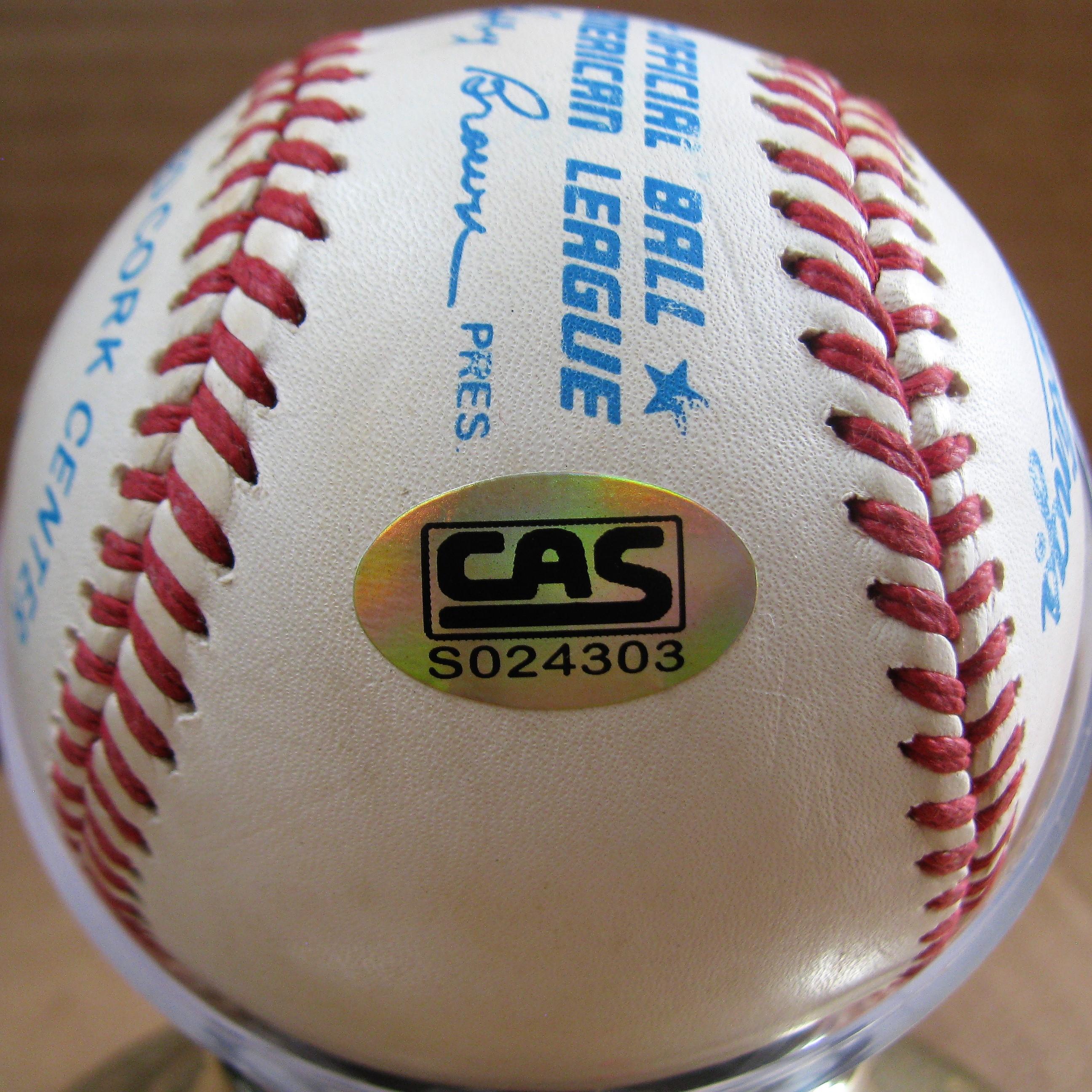 f37df5198d SIGNED BASEBALL w/CAS COA · KEN GRIFFEY JR. SIGNED BASEBALL w/CAS COA