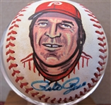 PETE ROSE SIGNED PHOTO BASEBALL w/CAS COA