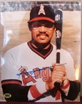 "REGGIE JACKSON SIGNED 8"" x 10"" PHOTO w/CAS COA"