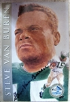 STEVE VAN BUREN SIGNED FOOTBALL HOF POST CARD