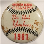 "1961 NEW YORK YANKEES ""AMERICAN LEAGUE CHAMPS"" PIN"