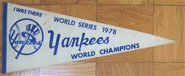 I WAS THERE - WORLD SERIES 1978 - YANKEES WORLD CHAMPIONS