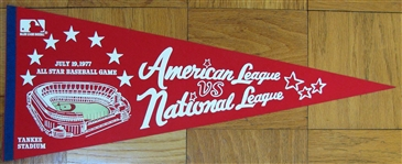 1977 ALL-STAR GAME PENNANT @ YANKEE STADIUM