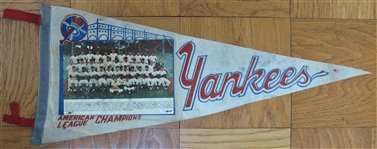 1963 NEW YORK YANKEES PHOTO PENNANT
