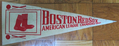 "1967 BOSTON RED SOX ""AMERICAN LEAGUE CHAMPIONS"" PENNANT"