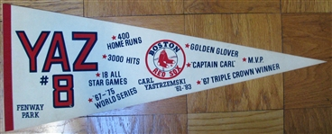 1983 BOSTON RED SOX - CARL YASTRZEMSKI RETIREMENT PENNANT
