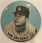 "60s DON DRYSDALE ""LARGE-SIZED"" PIN"