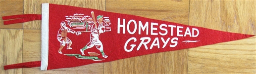 VINTAGE HOMESTEAD GRAYS NEGRO LEAGUE PENNANT