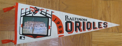 1969 BALTIMORE ORIOLES PHOTO PENNANT