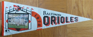 1970 BALTIMORE ORIOLES PHOTO PENNANT