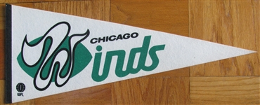 1975 WFL CHICAGO WINDS PENNANT