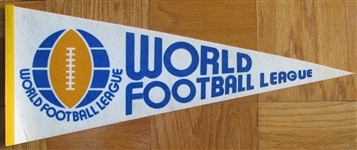 70s WORLD FOOTBALL LEAGUE PENNANT