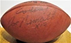 JOE NAMATH #12 SIGNED FOOTBALL w/JSA COA