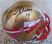 BRAD JOHNSON #14 SIGNED mini FOOTBALL HELMET w/SGC COA