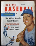 1953 INSIDE BASEBALL MAGAZINE w/ MICKEY MANTLE COVER