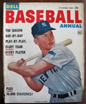 1953 DELL BASEBALL MAGAZINE w/MICKEY MANTLE COVER