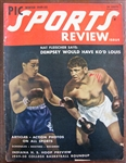 1949-50 PIC SPORTS REVIEW MAGAZINE w/LOUIS & DEMPSEY COVER