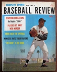 1961 COMPLETE SPORTS REVIEW MAGAZINE w/WILLIE MAYS COVER