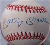 MICKEY MANTLE SIGNED BASEBALL w/STEINER
