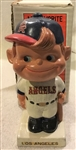 "60s LOS ANGELES ANGELS ""WHITE BASE"" BOBBING HEAD w/PICTURE BOX"
