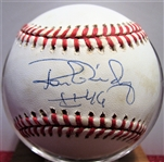 RON GUIDRY #46 SIGNED BASEBALL w/JSA COA