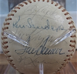 1976 NEW YORK METS TEAM SIGNED BASEBALL - SEAVER w/CAS