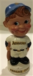 60s KANSAS CITY ATHLETICS mini BOBBING HEAD